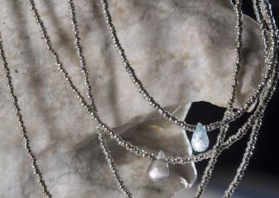 Collares - Gotas de piedras - Plata 950